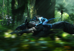 Аватар мчится на динозавре
