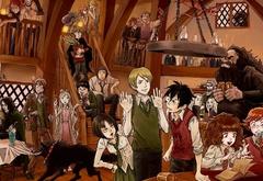 Красивый арт почти со всеми героями Поттерианы