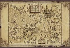 Стилизованная карта Хогвартса и окрестностей