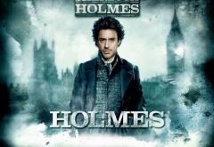 Шерлок Холмс на фоне Лондона