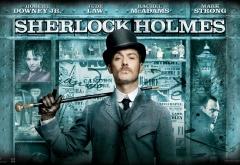 Джуд Лоу на афише фильма Шерлок Холмс
