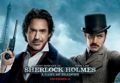 Шерлок Холмс и Джон Ватсон на фоне Парижа