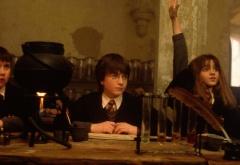 Невилл, Гарри и Гермиона на уроке зелий