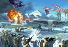 Империя атакует базу на Хоте
