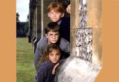Гарри, Рон и Гермиона на первом курсе